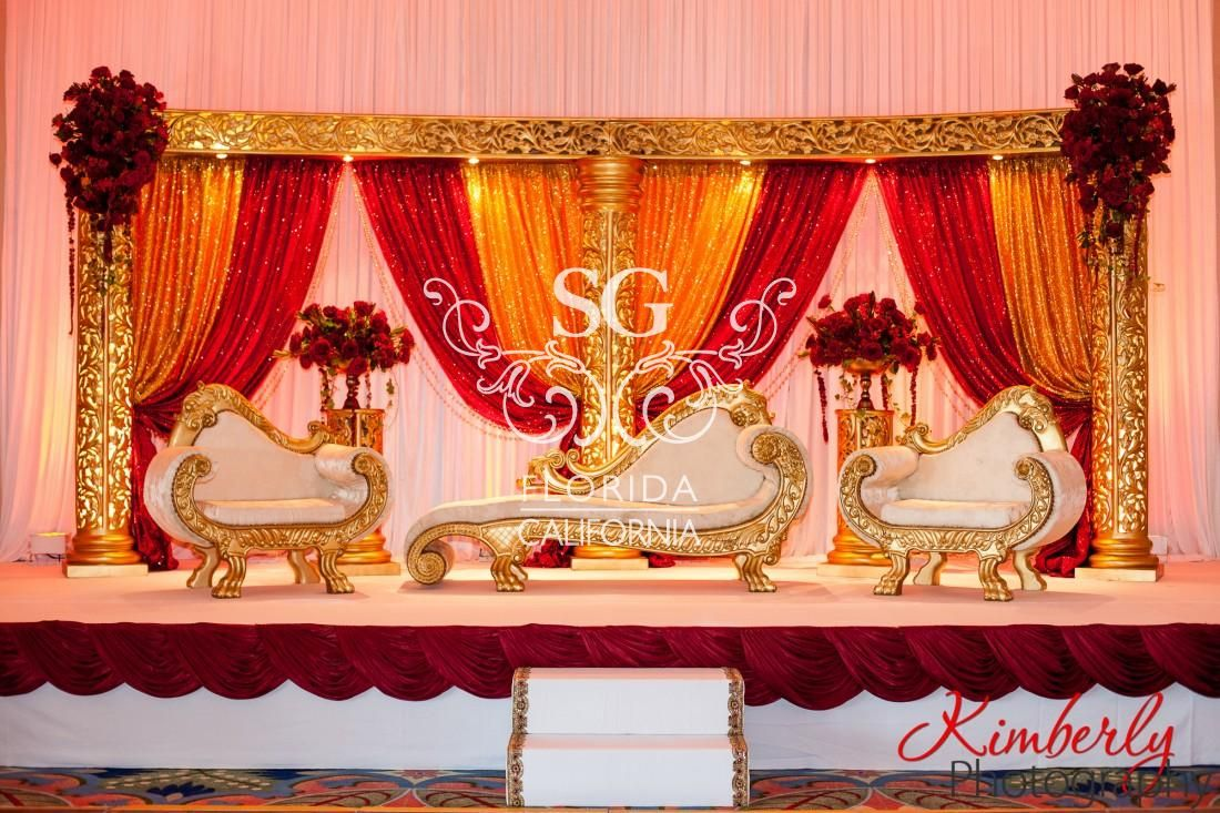 Latest wedding stage decoration  Suhaag Garden Florida Atlanta California Indian wedding decorators