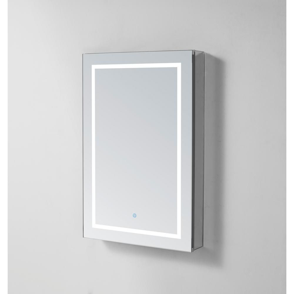 Aquadom Royale Plus 24 In W X 36 In H Recessed Or Surface Mount Medicine Cabinet With Single Door Led Lighting Left Hinge In 2020 Surface Mount Medicine Cabinet
