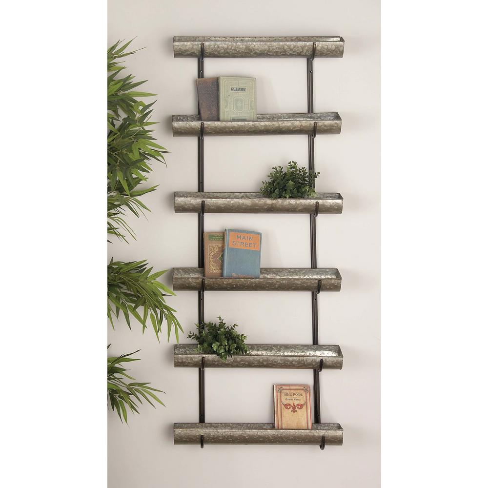 58 In Rustic Galvanized Iron 5 Tier Planter Products