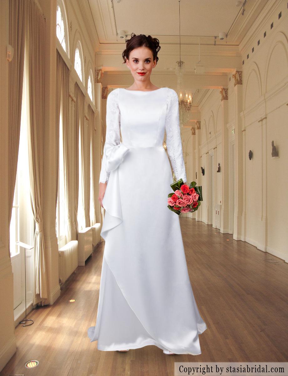 Create your own modest wedding dress Stasia Bridal