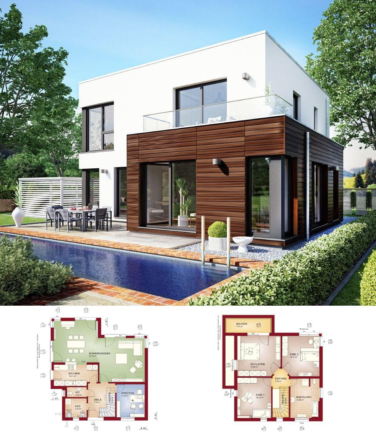 BAUHAUS VILLA // Haus Evolution 143 V11 Bien Zenker   Modernes  Einfamilienhaus Im Bauhausstil Flachdach
