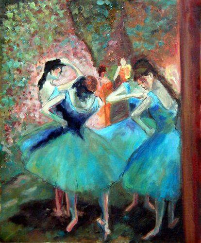 Degas - Danseuses bleues (huile)