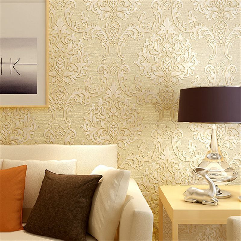 Beibehang Modern 3D Embossed TV Background Mural Wallpaper Roll