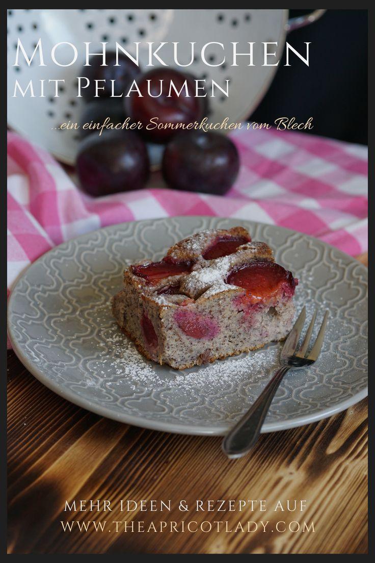 Mohnkuchen Mit Pflaumen Lebensmittel Essen Lecker Und Rezepte