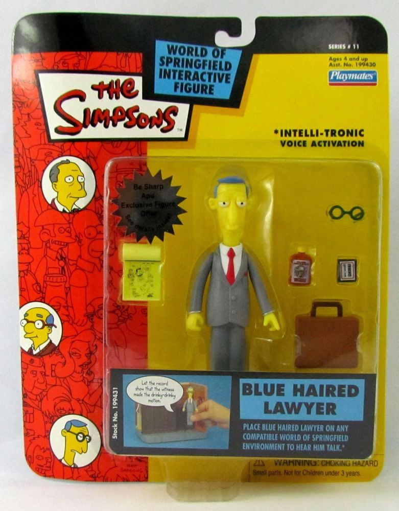 The Simpsons Blue Haired Lawyer Action Figure Series 11 Playmates