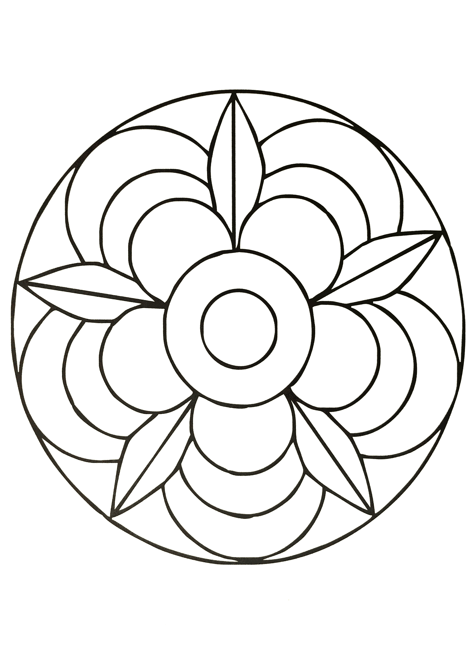 Simple mandala 40 Mandalas Coloring pages for kids
