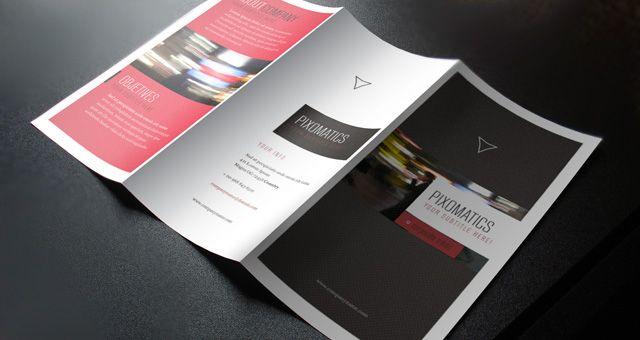 Corporate Tri Fold Brochure Mockup Template  Tri Fold Brochure