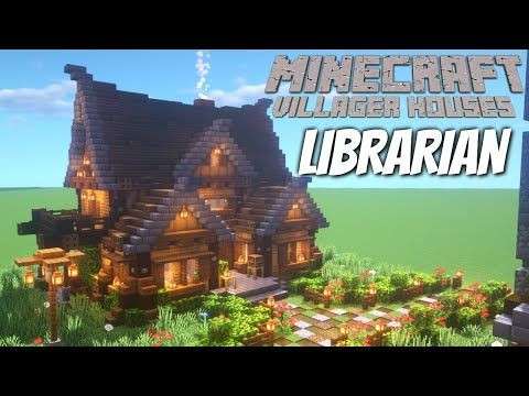 Minecraft Villager Houses How to make a Custom House in Minecraft for the Librarian Download