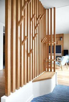meuble pour separer cuisine salon espace de vie dans une maison de ville scandinave entree meuble