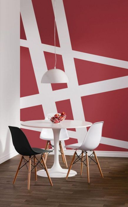 20 dise os geom tricos para decorar las paredes de tu - Disenos para pintar paredes ...