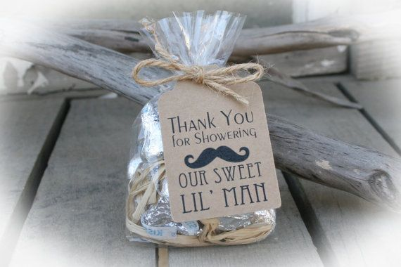 Little Man Baby Shower Diy Bags Favor Tags W Ribbon Sweet Favors