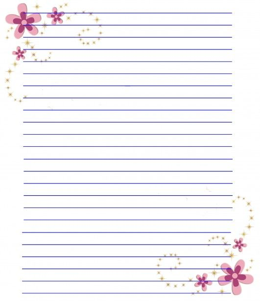 pinned from site directly Flower Stationery Paper