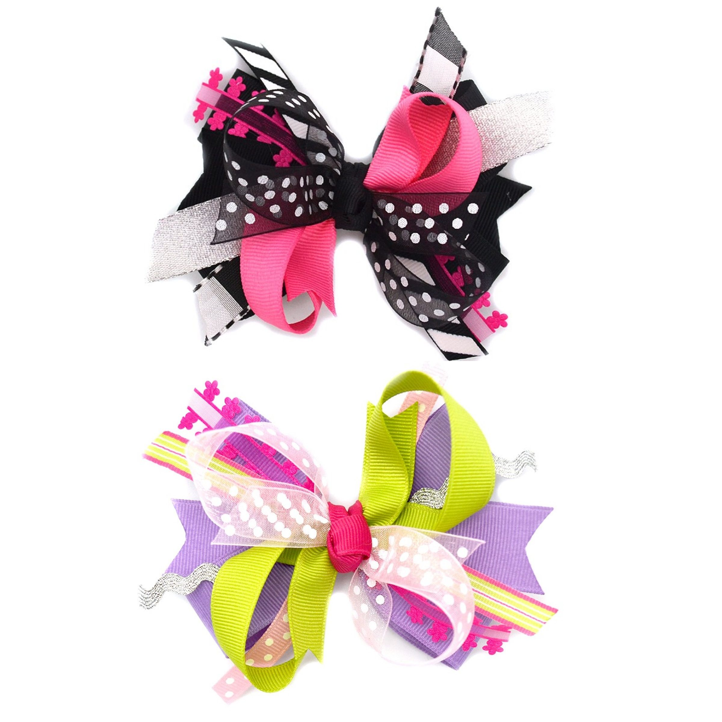 Fun layered bows from katelyn u co so cute i need them all girls