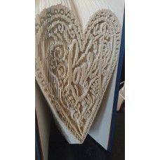 Love Heart Book Fold Pattern Template Weddings Bookami