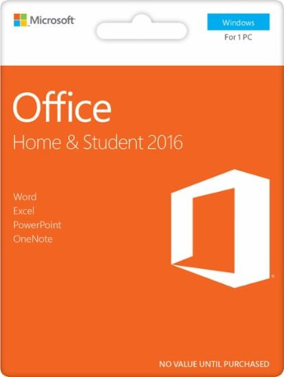 Office Home Student 2016 1 Pc Product Key Card Windows