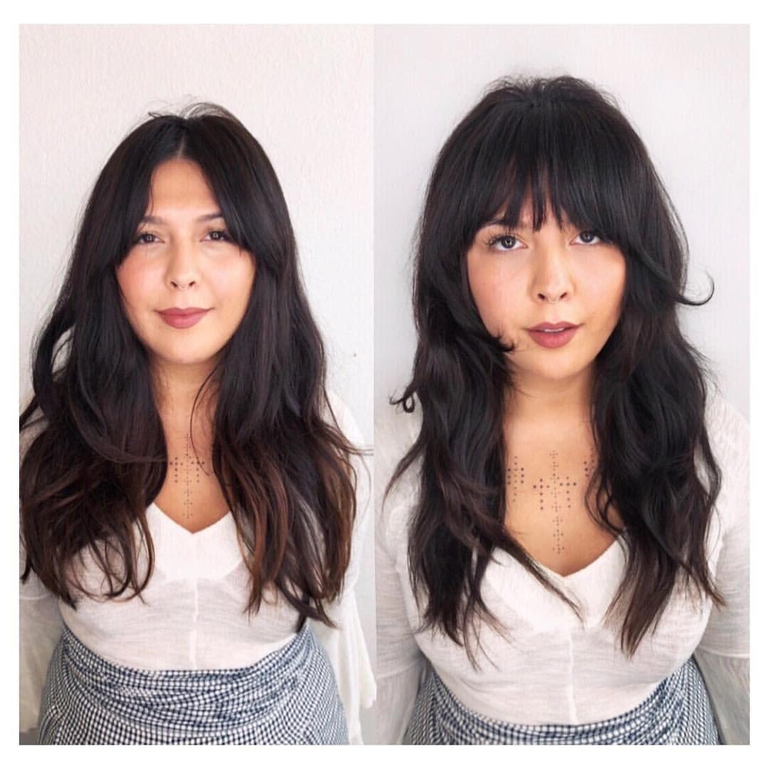 Long hair with soft bangs  Long hair styles, Long hair with bangs