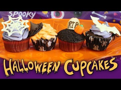 Easy Halloween Cupcake Decorating Ideas Tasty Delights - YouTube - wilton halloween cupcake decorations