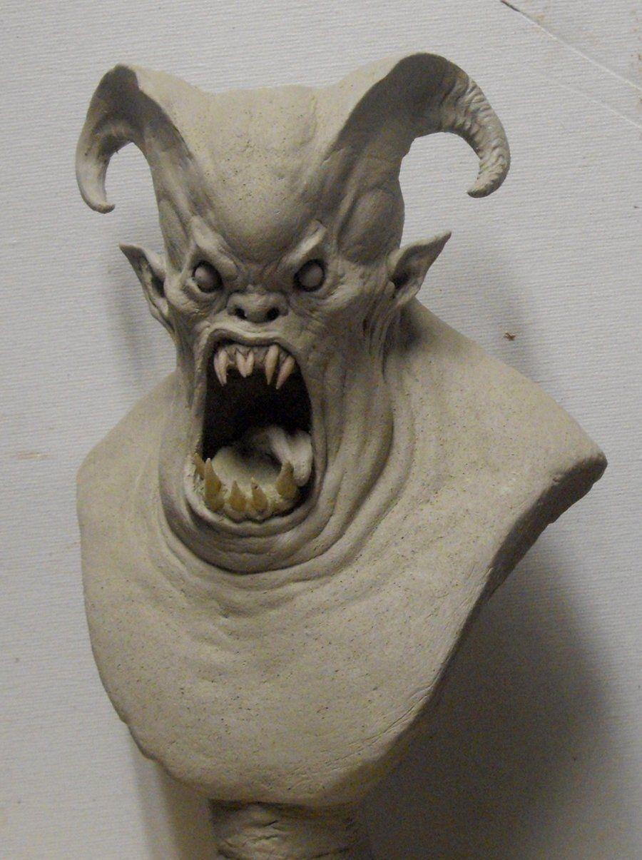 Demon Bust. by BOULARIS.deviantart.com on @deviantART