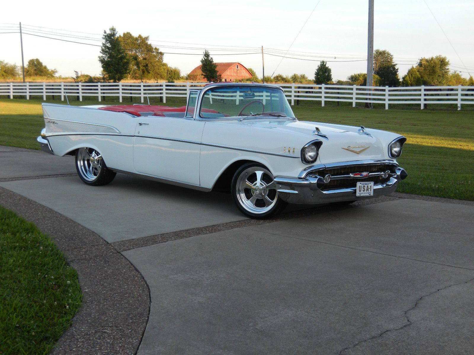 Chevrolet Bel Air 150 210 Belair 1957 Chevy Convertible Custom Resto Mod All New Cold A C Hot Rod