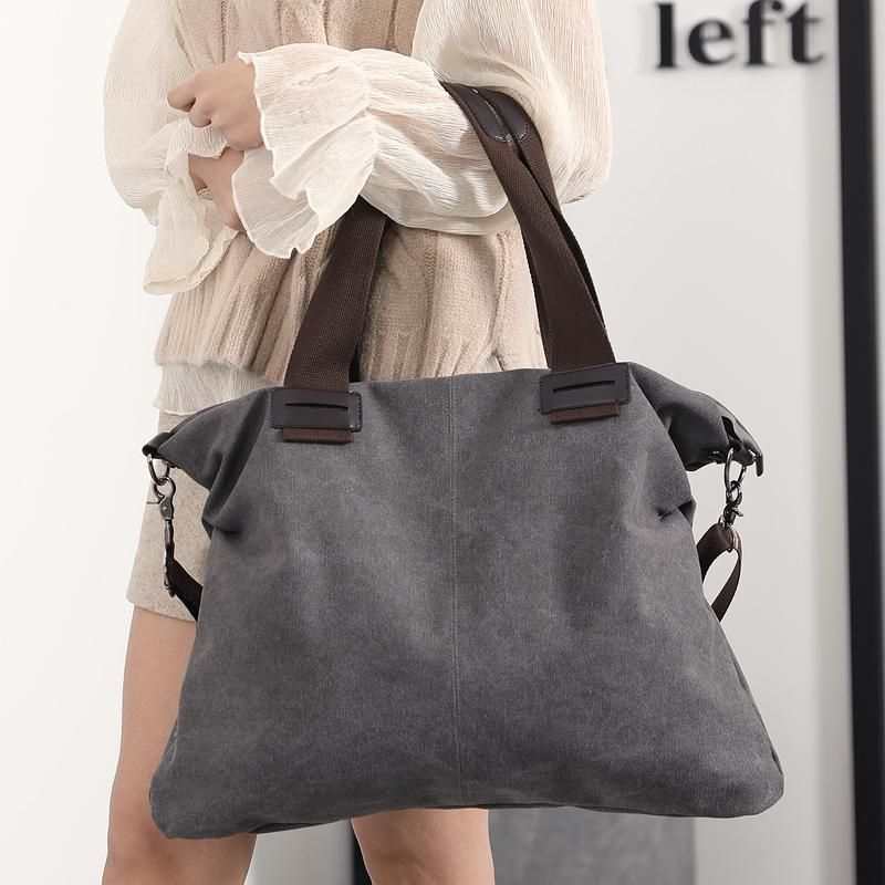 0253c1eb8 Bag - 2018 Spring New Large Pocket Canvas Handbags (Buy one Get one 20 –  Kaaum
