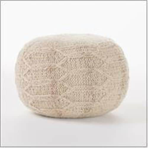 Pier 40 Imports Madison Ivory Pouf Ivory Magnificent Pier One Pouf