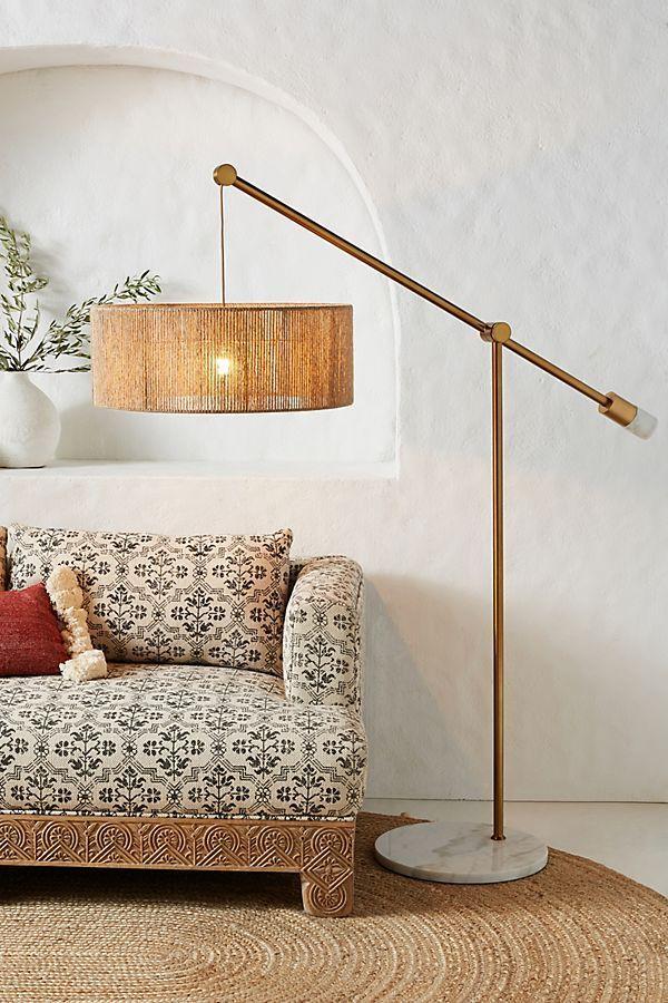 Topanga Jute Floor Lamp Floor Lamps Living Room Floor Lamp