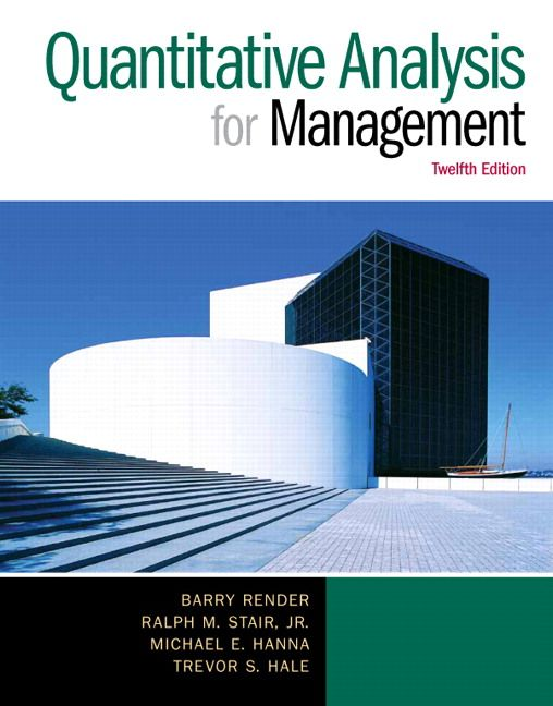 Quantitative Analysis For Management Th Edition Nou Llibre