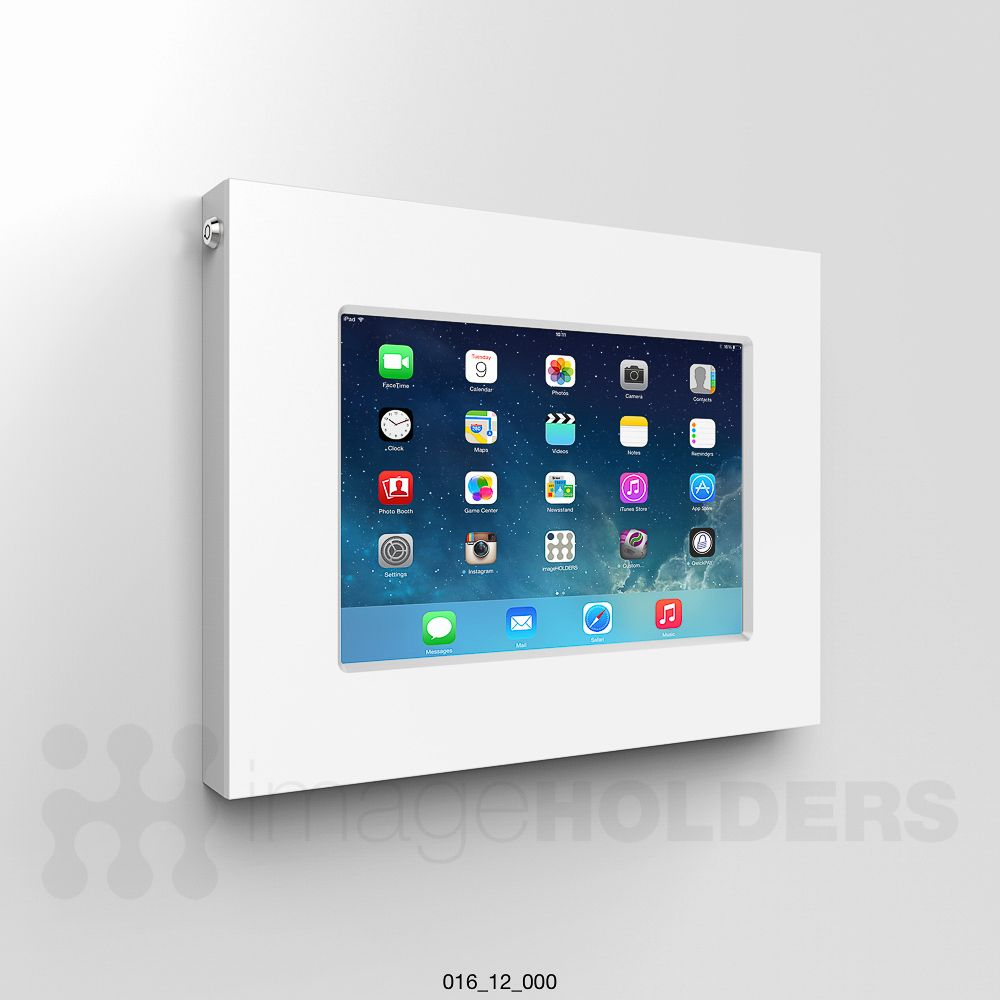 Ipad bathroom wall mount - Slimline 12 Secure Wall Mounted Ipad And Tablet Kiosk