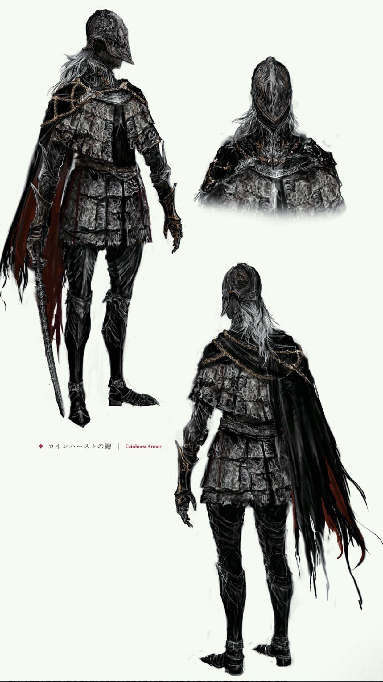 Cainhurst armor set bloodborne pinterest bloodborne for Dark souls 3 architecture