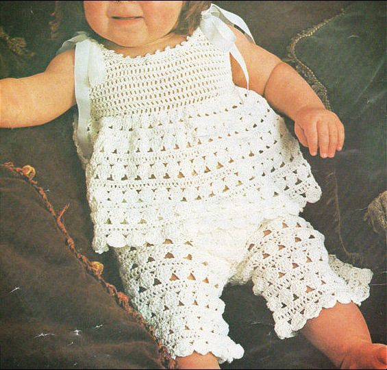 PDF Download Vintage Crochet Pattern to make a Baby or Toddler Two ...