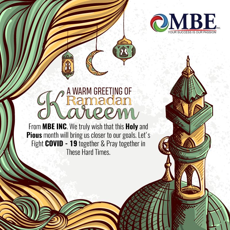 MBE Wishes Ramadan Kareem in 2020 Ramadan background