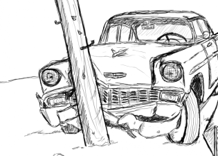 Car Crash Sketch At Paintingvalley Com Explore Collection Zeichnung Bleistiftzeichnung Autounfall