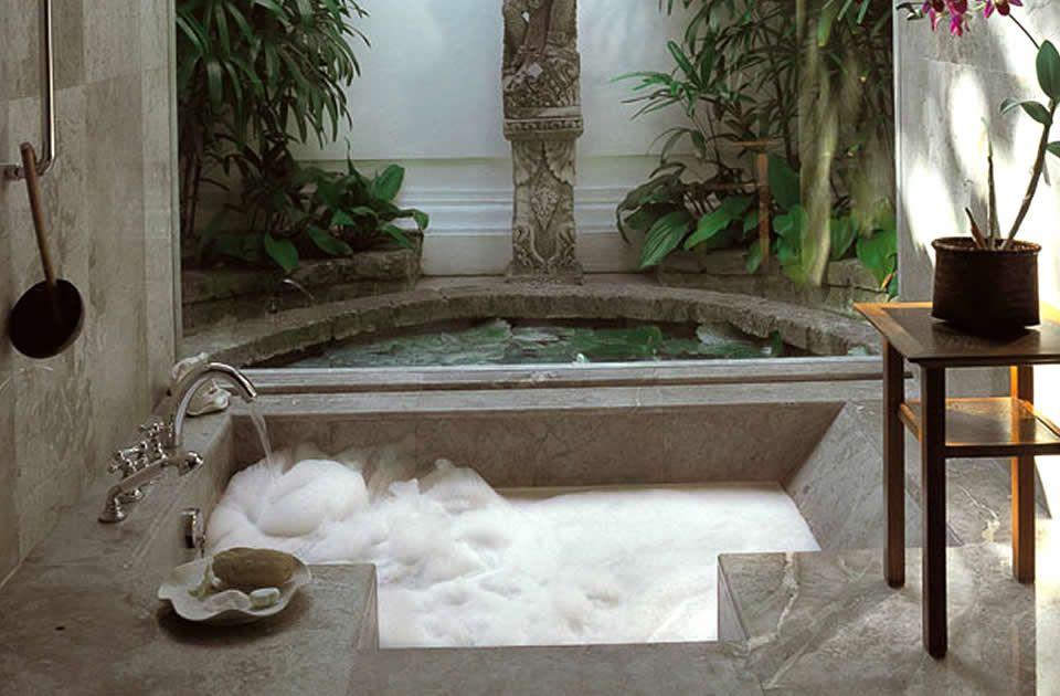 Sunken Bath Nice Hospitality Interior Design Of Oberoi Seminyak Beach Denpasar Bali Bathroom Design Decor Hospital Interior Design Luxury Bathroom
