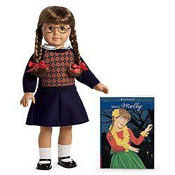 American Girl Molly Doll and Paperback Book by American Girl. Argyle sweater Navy-blue skirt Mary Jane shoes Braids with ribbons 18 inches tall, movable head/limbs. Book of girl growing up in World War II. See more at: http://toyconsideration.com/toys-games/dolls-accessories/dolls/american-girl-molly-doll-and-paperback-book-com/#sthash.YXGIqrp0.dpufee more at: http://toyconsideration.com/toys-games/dolls-accessories/dolls/american-girl-molly-doll-and-paperback-book-com/#sthash.YXGIqrp0.dpuf