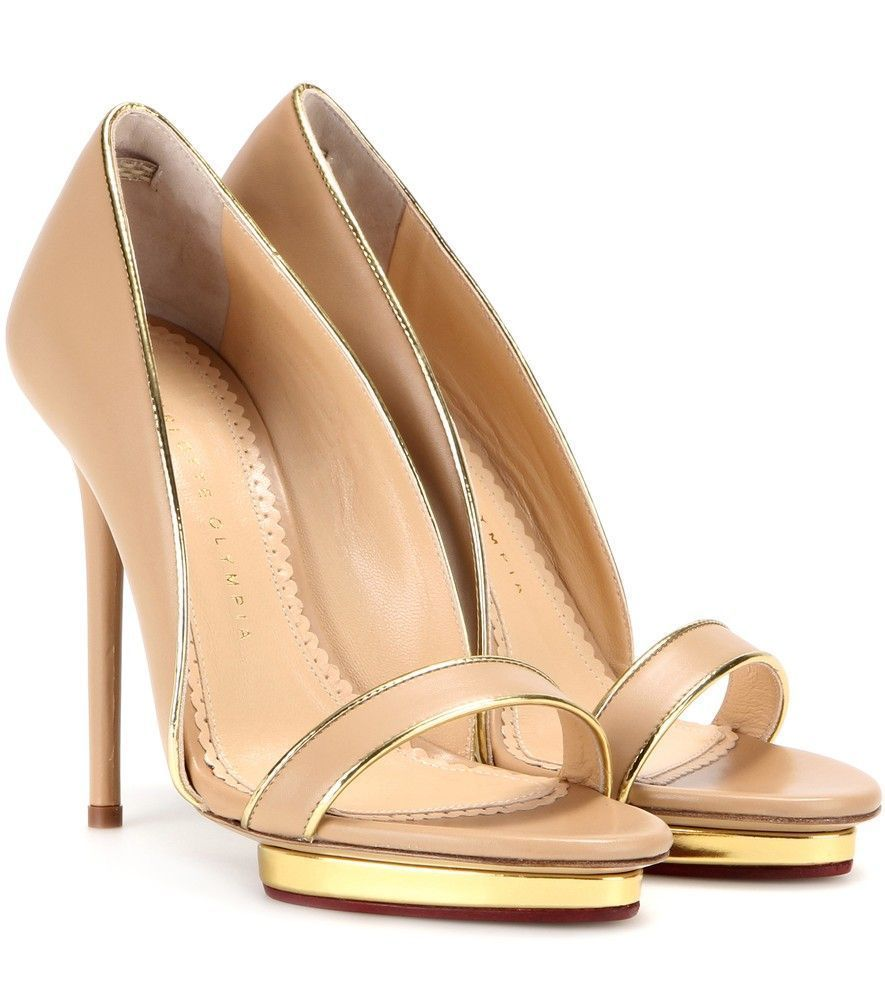 Charlotte Olympia Christine 125 Leather Sandals cheapest price sale online RgRXp3KLT