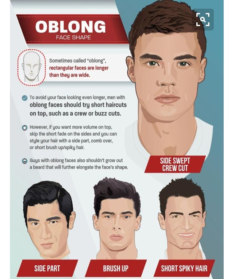 Choose The Best Hairstyle For Your Face Shape For Men Hairstyle Accord Oblong Face Haircuts Oblong Face Hairstyles Haircut For Face Shape