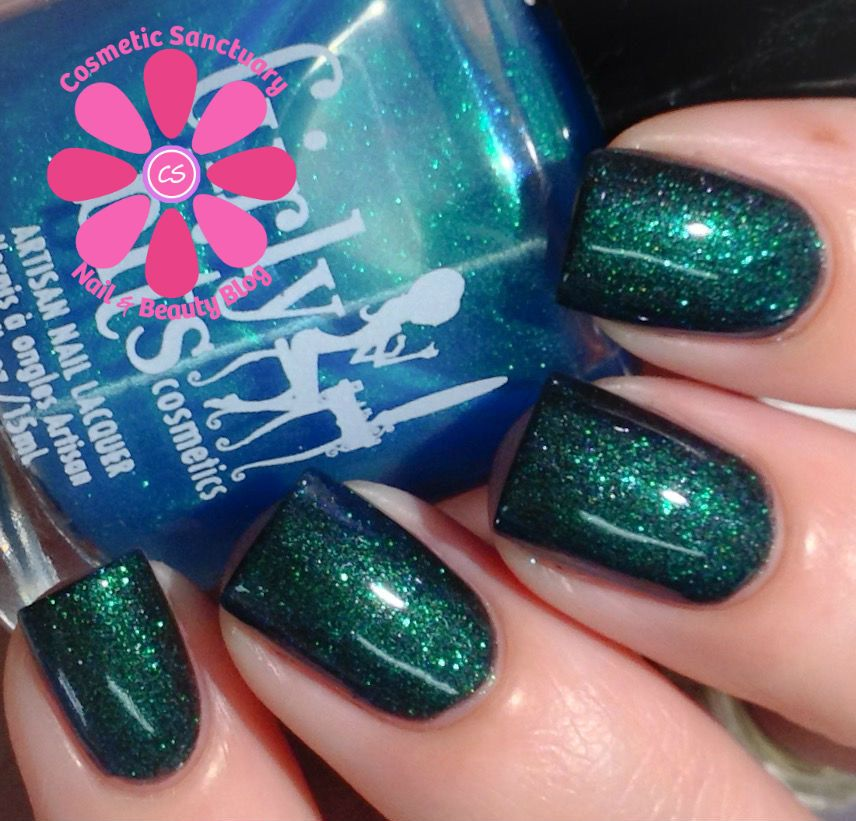 Girly Bits: Cosmic Ocean is a blue/green/purple duo-chrome topcoat ...