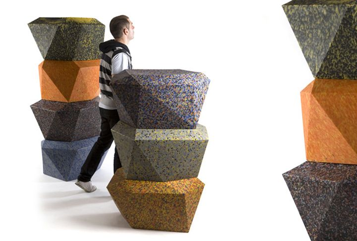Delightful 100% Recycled Plastic Furniture By Rodrigo Alonso For Fahneu Furniture 2 Eco