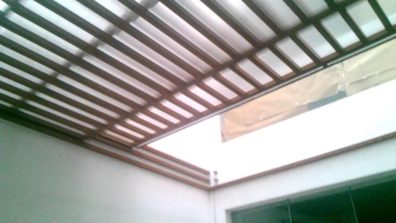 Techo Corredizo Sol Y Sombra Con Estructura De Al Techos Corredizos Techos Corredizos Para Patios Techos Sol Y Sombra