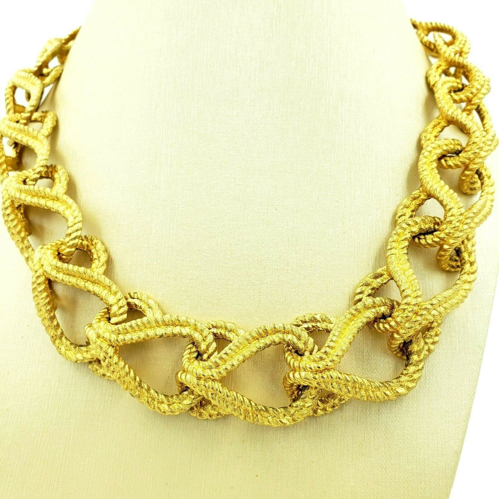 Givenchy Bold Gold Chain Link Necklace Adjustable 16