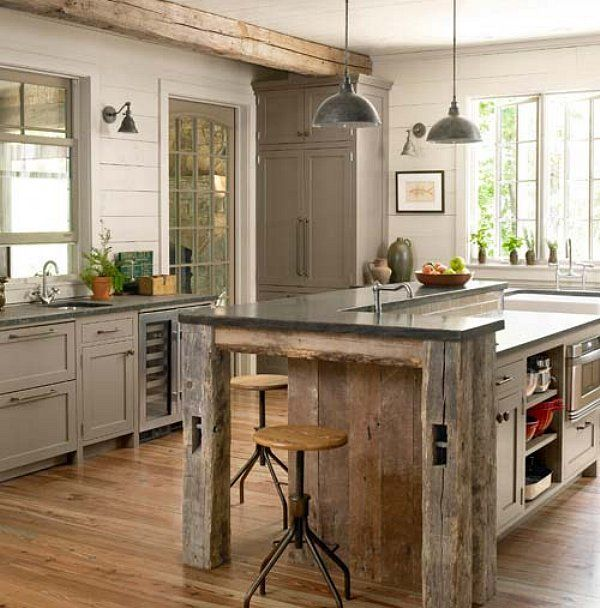 note to self if and when building own house, salvage wood to make - landhauskchen mediterran