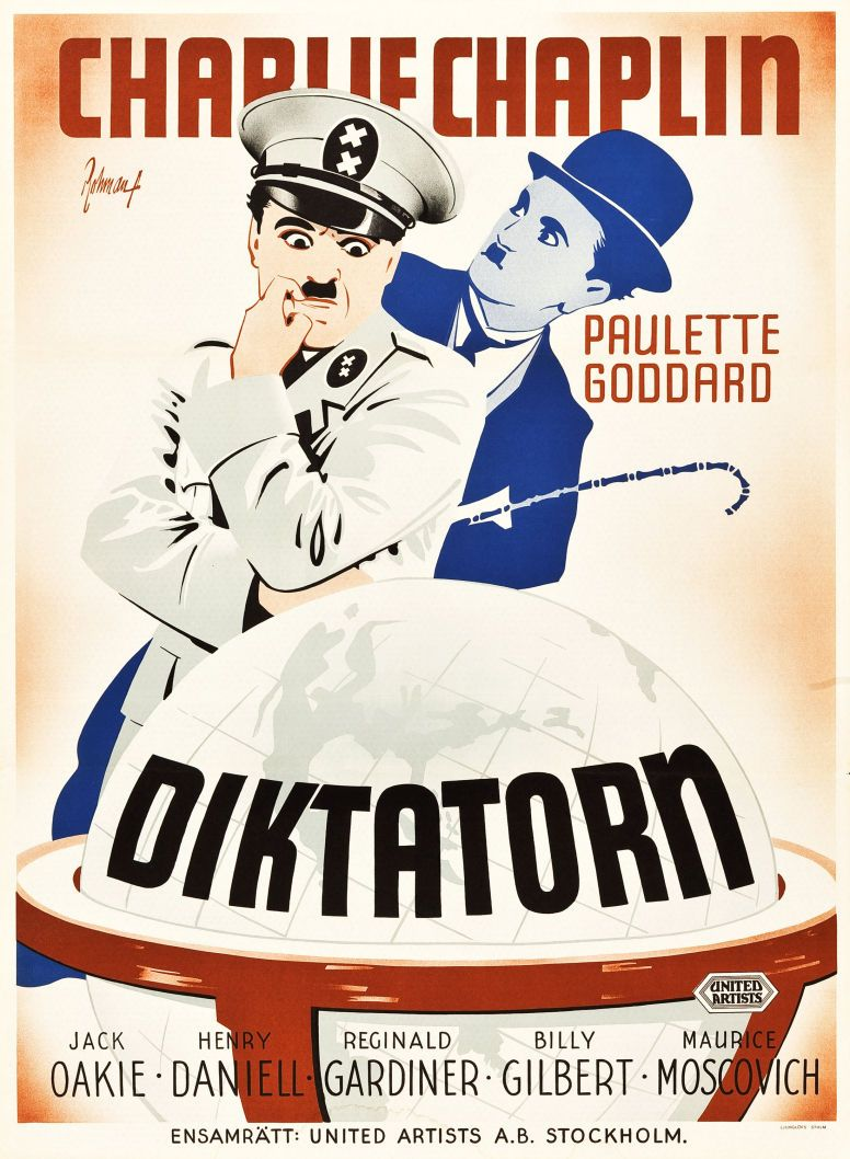 The Great Dictator Chaplin, Classic movie posters, Best