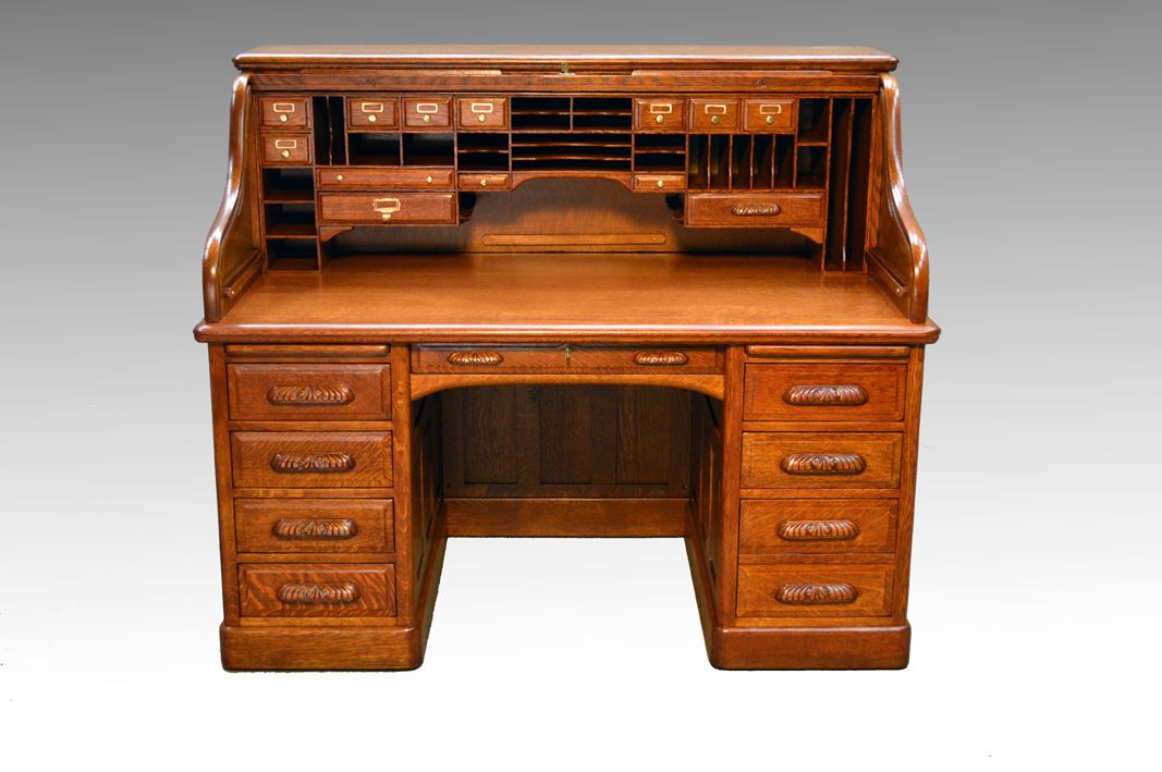 Sold Victorian Oak Lawyers Bankers 60 Raised Panel Roll Top Desk Furniture For Small Spaces Apartment Furniture Farmhouse Furniture
