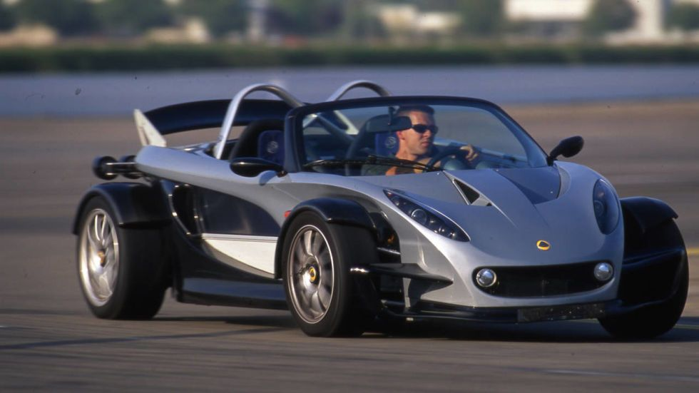 2000 LOTUS 340 R (340 built; and, based on the Series 1 Elise) - no roof, nor doors, nor airconditioning, nor radio, just all fun (note: is not among the Top 10 Sportscars but featured for info)