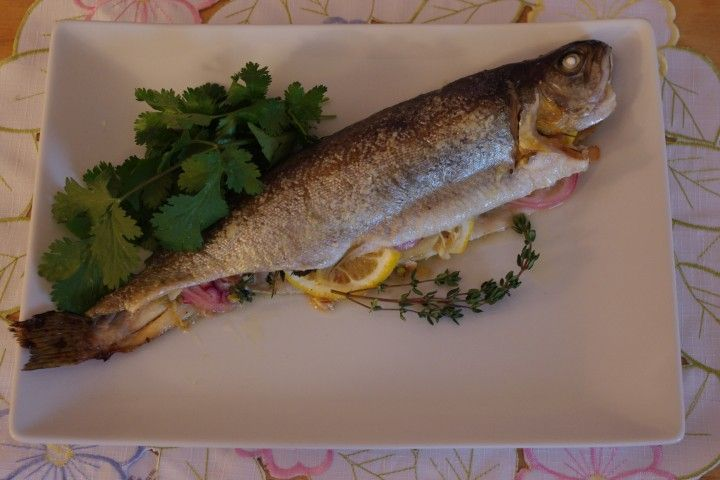 Whole Rainbow Trout With Lemon, Fennel And Shallots from CDKitchen.com