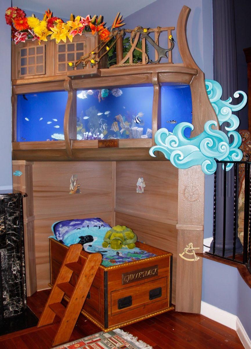"""Sea Chest Bed"" Cool fish tanks, Fish tank, Fish tank design"