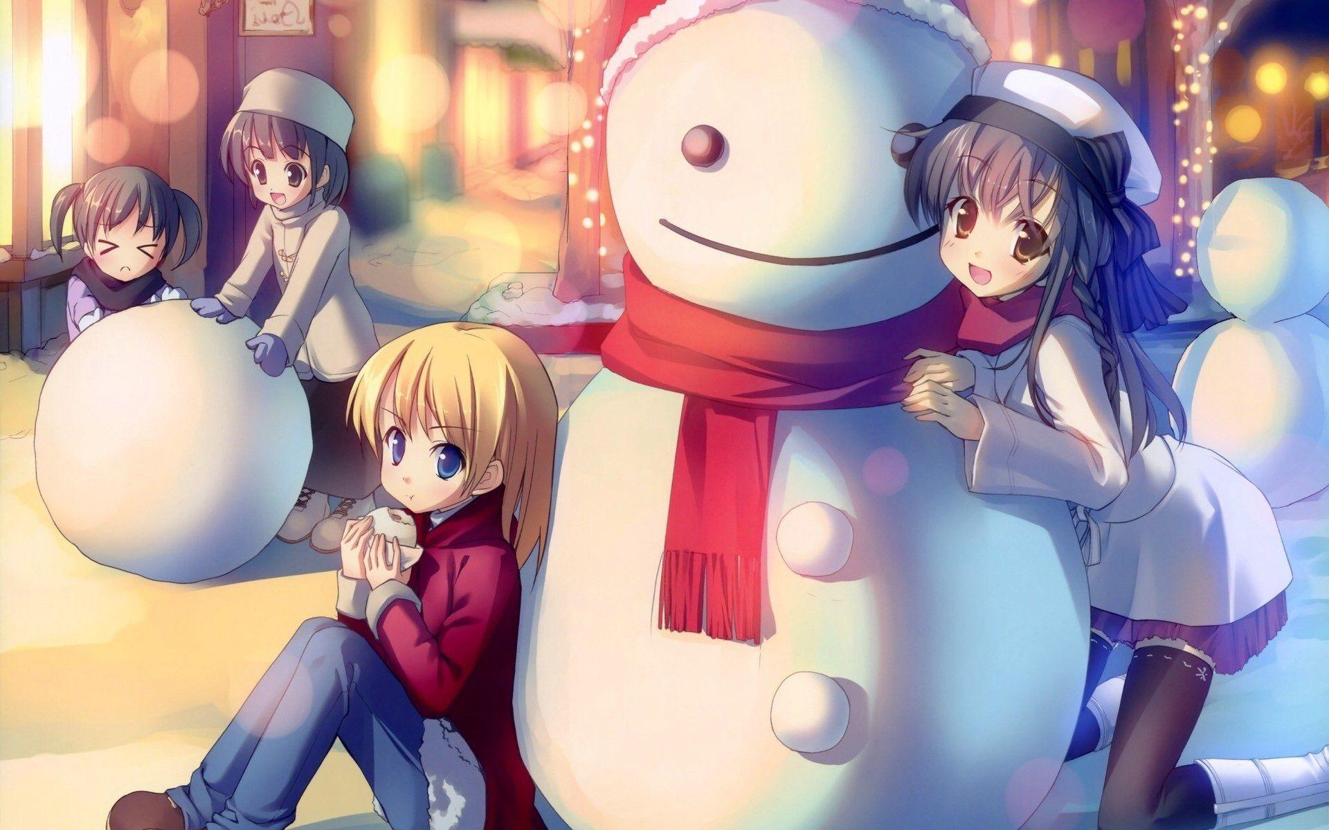 Anime Christmas Anime Christmas Anime Child Christmas Wallpaper Hd