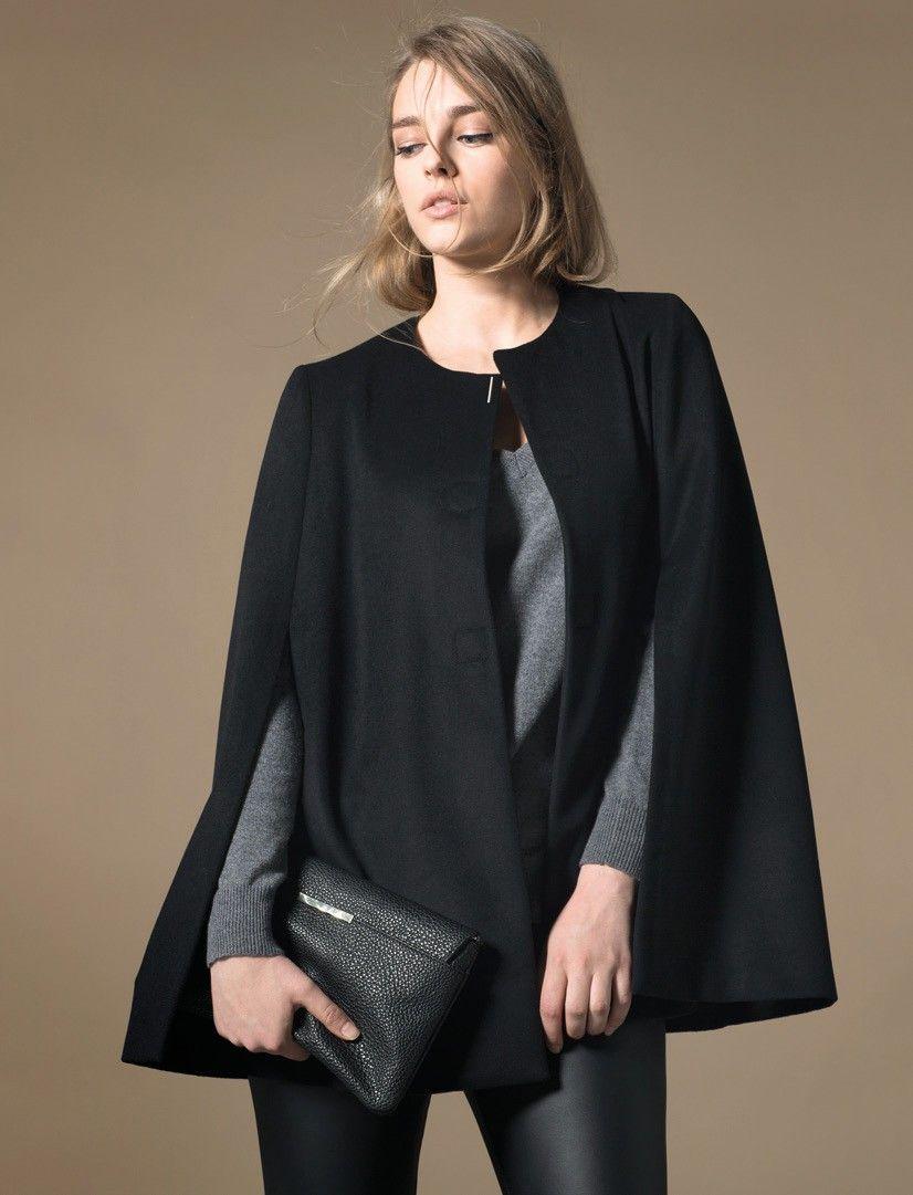 b80477c6b1fa manteau cape femme mango grande taille