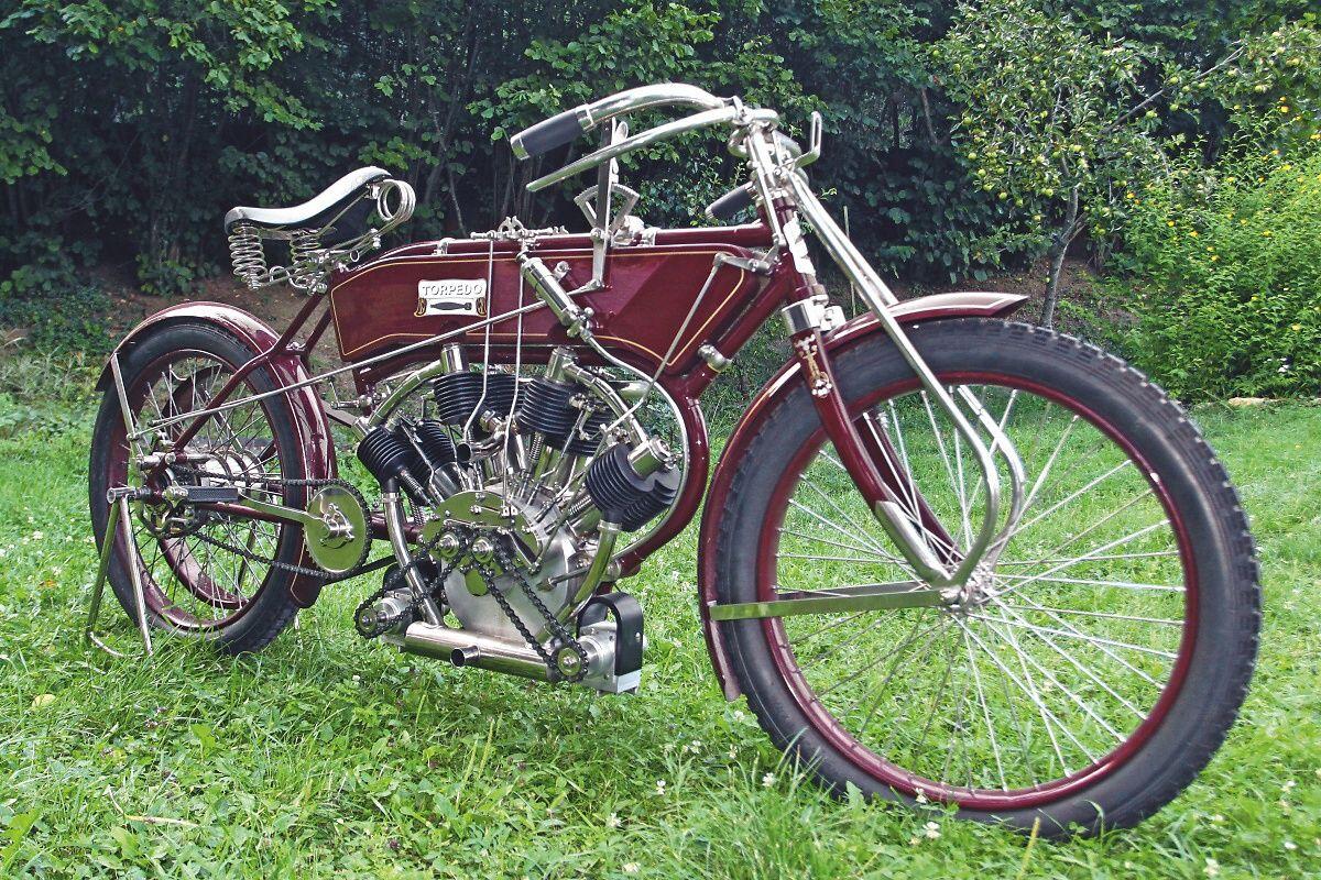 1909 Torpedo V4 Replica Motorcycle Bike Bicycle