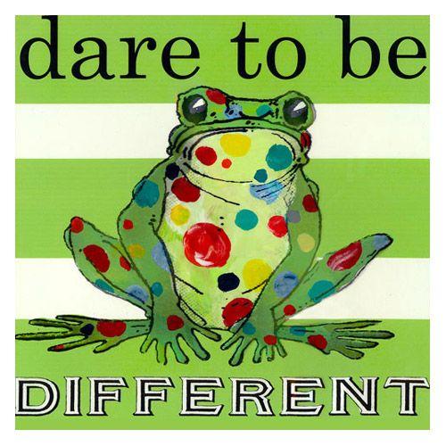 Dare to be Different Frog Custom Canvas @PoshTots #droozstudio